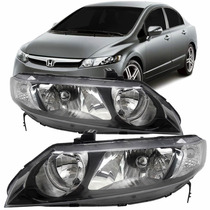 Par Farol New Civic Honda Ano 2007 2008 2009 2010 2011