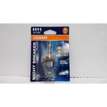 Lampada Osram Night Breaker Plus H11 Par Farol