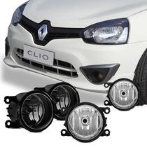Kit Farol De Milha Neblina Completo Renault Clio 2013 2014