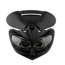 Farol Mascara Universal Para Motos C/ Pisca Integrado