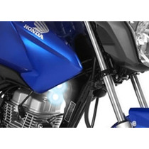 Farol Milha Auxiliar Led Moto Cg 150 Fan Lampada Igual Xenon