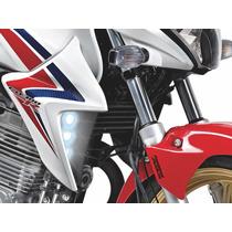 Farol Moto Luz Led Milha Auxiliar Drl Honda Cb 300