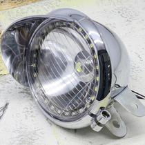 Farol Universal Com Aba Para Motos Custom/chopper/bobber