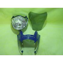 Farol Carenagem Frontal E Bolha Xt660 Azul Speed China
