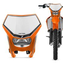 Carenagem Farol Moto Off Road Universal Pro Tork Laranja