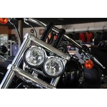 Farol Duplo Cromado Harley Davidson Dyna Fxd E Fxdc Completo