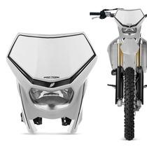 Carenagem Farol Moto Off Road Universal Pro Tork Branco