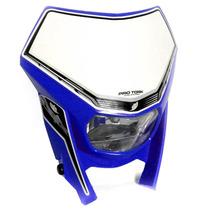 Farol Com Carenagem Off Road Universal Pro Tork Azul