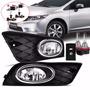 Kit Farol Milha Civic 2012 Aro Cromo+xenon 8000k 4 Brindes