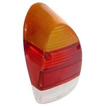 Lente Lanterna Traseira Wv Fusca 1300l 1500 Tricolor Par