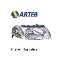 0160404 Farol Direito Arteb P/ Gol G3 99..06 H4 S/defletor