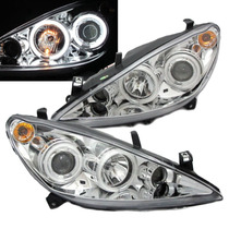 Par D Farol Projector Angel Eyes Led C Milha Peugeot 307
