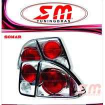 Lanterna Altezza Honda Civic 2001 2002 03 04 05 2006 Cromada