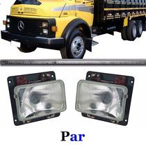 Par Farol Caminhão Mercedes 1113 1313 1513 Bxo S/aro C/sup