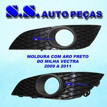 Moldura Milha Vectra Farol Auxiliar 2009 A 2011 Aro Preto