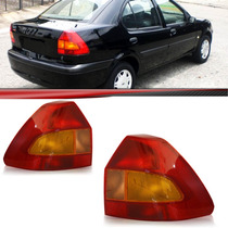 Lanterna Traseira Fiesta Sedan 2001 2002 2003 Tricolor