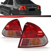 Lanterna Traseira Civic 03 04 05 06 Bicolor Pisca Ambar