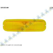 Lente Lisa P/ Lanterna Dianteira C10 D10 Amarela