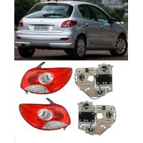 Par Lanterna Traseira Peugeot 207 2008 A 2012 Com Circuito