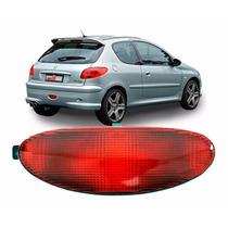Lanterna Traseira Neblina Peugeot 206 Parachoque Acrilica