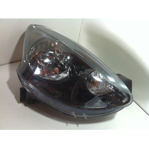 Farol Nissan March 2014 2015 Mascara Negra Original