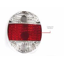 Lanterna Traseira Fusca Fafa Tuning Esportiva Cristal/rubi