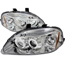 Par De Farol Projector Angel Eyes + Led Honda Civic 96/98