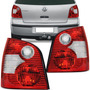 Par Lanterna Traseira Polo Hatch 2003 2004 2005 06 Bicolor