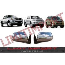 Retrovisor Cromado Pisca Hilux Srv Pickup Par 2012 2013