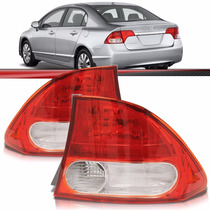 Lanterna Traseira New Civic 07 08 09 10 11 Canto Acrilico