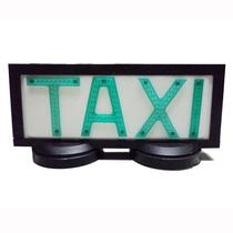 Luminoso De Taxi Grande Com Base 2 Imas Preto- Frete Grátis