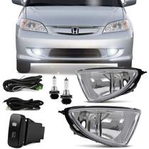 Kit Farol De Milha Honda Civic 2004 2005 + Kit Xenon