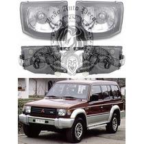 Farol Mitsubishi Pajero Gls De 98/00 Liso Novo Lado Esquerdo