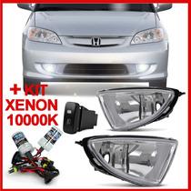 Kit Farol Milha Honda Civic 2004 2005 2006 + Kit Xenon