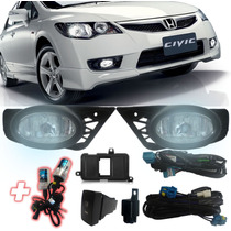 Kit Milha New Civic 2009 2010 2011 Completo Com Xenon