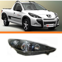 Farol Peugeot Hoggar 207 07 08 09 10 11 12 Negro Direito