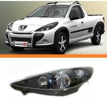 Farol Peugeot Hoggar 207 07 08 09 10 11 12 Negro Esquerdo