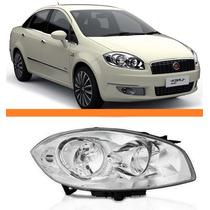 Farol Fiat Linea Ano 2008 2009 2010 2011 2012 Direito