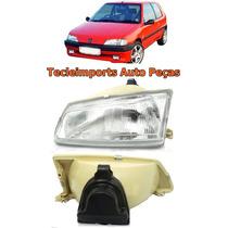 Farol Peugeot 106 Ano 92 93 94 95 96 Novo Depo Lado Esquerdo