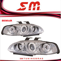 Farol Projector Angel Eyes Civic 2/3 Pts.92 93 94 95 Cromado
