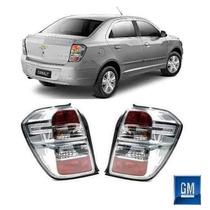 Par Lanterna Traseira Chevrolet Cobalt Fumê Original Gm