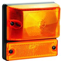 Lanterna Lateral Caminhão Com Refletivo Led Gf110.7