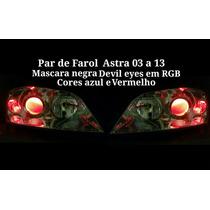 Par De Farol Astra 03 A 13 Mascara Negra Com Devil Eyes