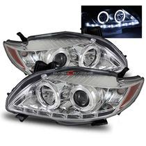 Par Farol Projector Drl Led Angel Eyes Toyota Corolla 09/11