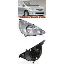 Farol Honda Fit 2003 2004 2005 2006 2007 2008 Cromado L /dir