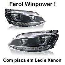 Farol Led Golf Mk7 Tsi Com Xenon E Pisca Em Led - Winpower