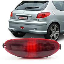 Lanterna Neblina Peugeot 206 Parachoque Traseiro Acrilica