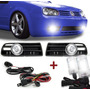 Kit Farol Auxiliar Golf Sapao 99 A 06 + Kit Xenon H3 10000k