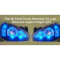 Par De Farol Corsa Montana 03 A 09.mascara Negra ,angel Eyes