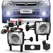 Kit Farol Milha Corsa Meriva 2003a2012 Montana 03a2010+xenon